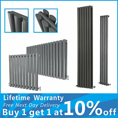 Anthracite Designer Radiators Vertical Horizontal Column Oval Panel Rads
