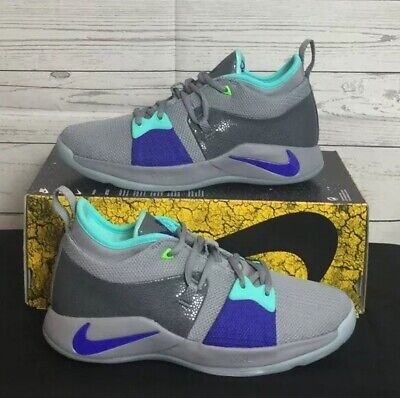 80142a0a6f9 NIKE PG 2 (GS) Safari Pure Platinum Neo Turquoise Youth Basketball ...