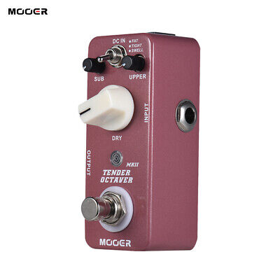 MOOER TENDER OCTAVE MKII Octave Guitar Effect Pedal 3 Modes True Bypass Z9H4