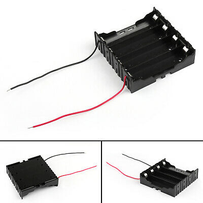 4 Cell 18650 Series Battery Holder Storage Case With Wire Leads 14.8V/A5