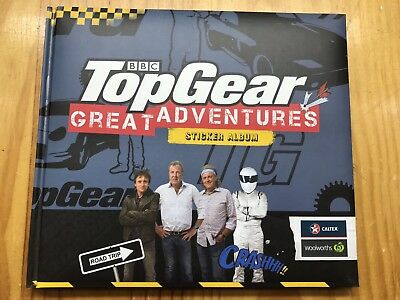 Woolworths Bbc Top Gear Great Adventures Album & Stickers