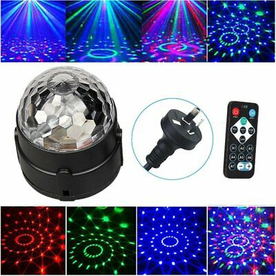 Disco Party DJ LED RGB Stage Effect Light Lamp Laser Crystal Magic Ball Remote