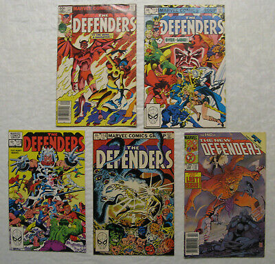 The Defenders (1st Series) #s 111-114 & 152 (VF- to VF+), 1982 & 1985