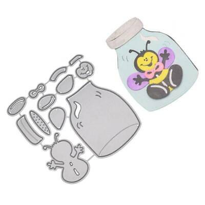 Bee Jar Metal Cutting Dies DIY Stencil ScrapbookPaper Card Embossing Craft