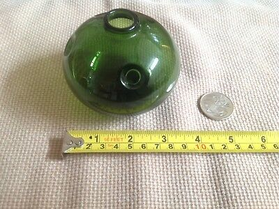 Vintage Small Holmegaard Denmark Forest Green Glass Bubble Vase by Michael Bang