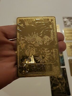 Carte Dragon Ball Z Spécial Invitation rare gold métal carddass