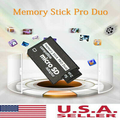 For Micro--SD SDHC TF to Memory Stick MS Pro Duo PSP Card Adapter Converter US