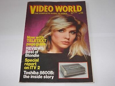 Video World Magazine - Jan 1982 Debbie Harry Blondie Cover RARE