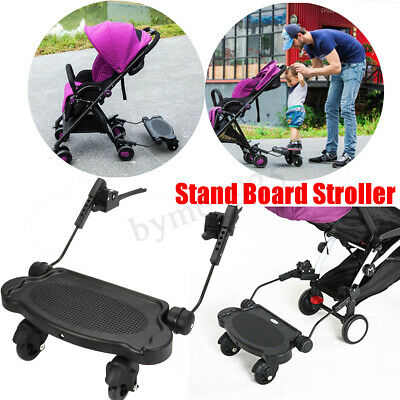 Toddler Standing Board Stroller Pram Buggy Ride Stand Sit Connector Universal