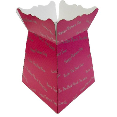 Your the Best - Hot Pink / Silver- Living Vases Florist Bouquet Box Flower Sweet