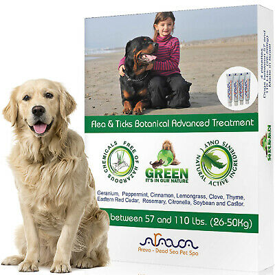 Flea and Tick Prevention for Dogs Large 57-110lbs Control Natural Safe & Shampoo