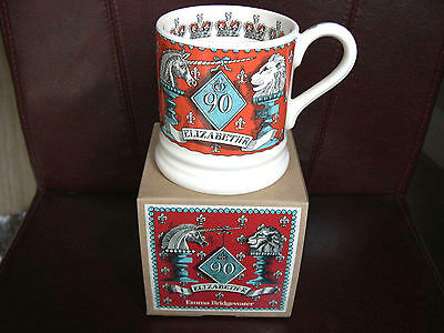 Emma Bridgewater Mug Queen 90th Birthday Lion and Unicorn Half Pint Boxed