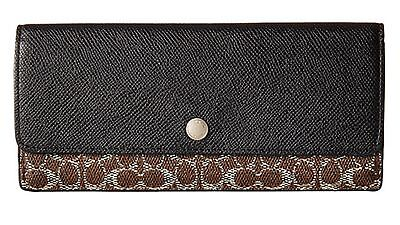 COACH slim wallet purse Signature leather Valentines Women Christmas Gift Xmas
