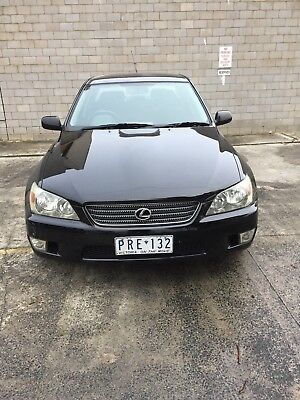 1999 LEXUS IS200 OPTIONED SEDAN BLACK GOOD-VG COND  RWC/ REGO (Vic),(PRE132),