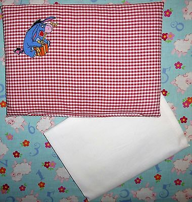 New Disney Eyeore toy pram cot bed sheet and pillow set baby doll teddy