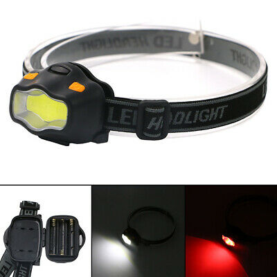 3W COB LED Torch Headlamp Adjustable 3 Modes Lamp Fishing Camping Outdoor Mini