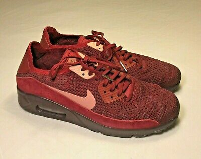 57b573d175850c Nike Air Max 90 Ultra Flyknit (875943-601) Team Red Athletic Shoes Men