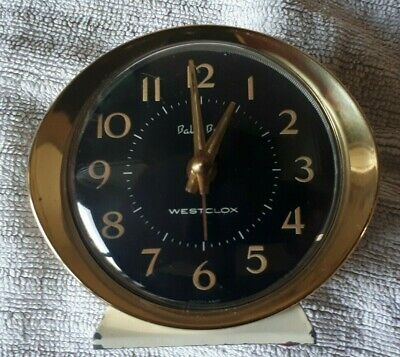 Vintage 1964-80 Westclox Style 8 Baby Ben Clock  Black Gold Early Model