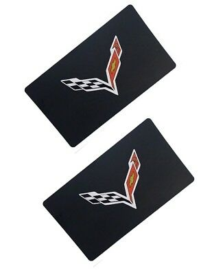 2014-2019 C7 Corvette Visor Warning Label Covers Decals with Flag Logo