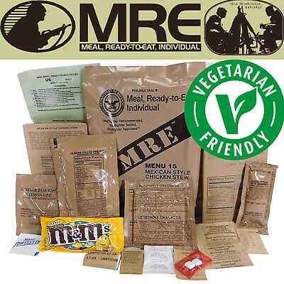 MILITARY US ARMY MRE  Food Ratio Emergency CombatCamping Meal VEGETARIAN