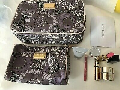 Estee Lauder Gift Set Includes 2 Make Up Bags and 6 Luxury Products Brand new