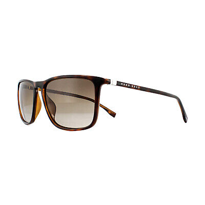 d75158a15ca HUGO BOSS SUNGLASSES 0665 N S 086 HA Dark Havana Brown Gradient ...