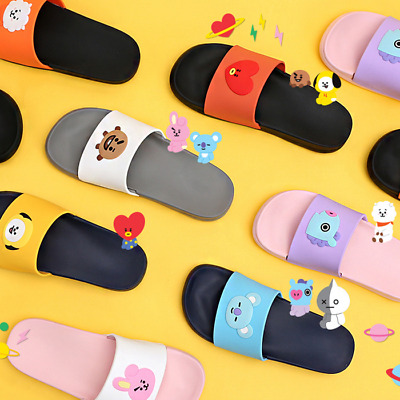 [BTS] - BT21 Face Silicone Slippers Official Goods 220~250mm