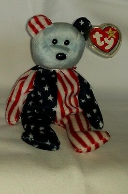 Ty Beanie Baby Bär Spangle Red Ty Beanie Babys Retired Bean Bags