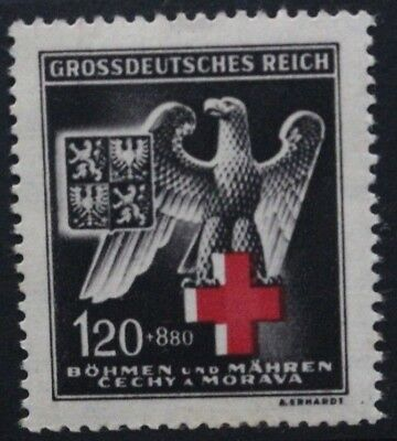 GERMANY OCCUPATION ISSUES BOHEMIA 1943 Red Cross Relief Fund. Set of 1 MNH SG112