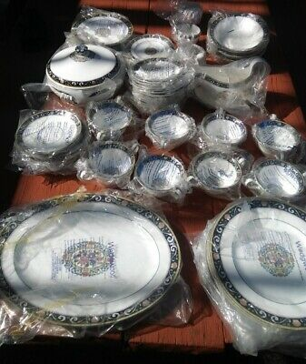 Wedgwood Bone China Runnymede W4472 Complete 70 pc set Made in England NIB Mint