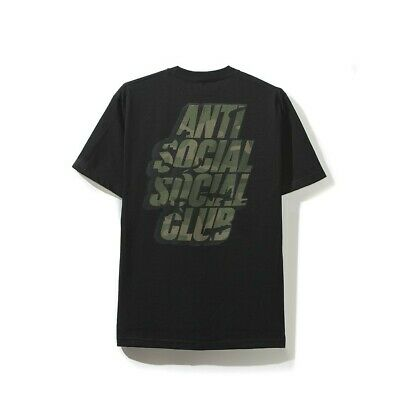 834649548964 Anti Social Social Club ASSC Blocked Box Logo Camo Black Tee Size M Medium  KKoch