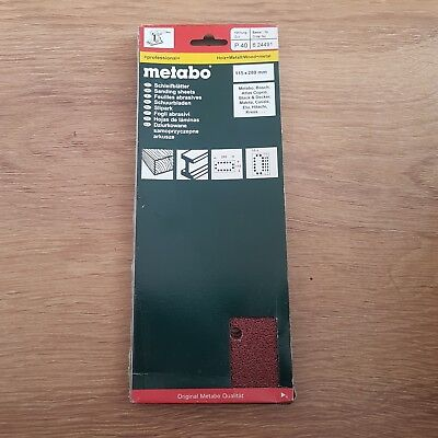 Metabo 624491000 Sanding Sheets P40 Size 115x280 , 10pcs