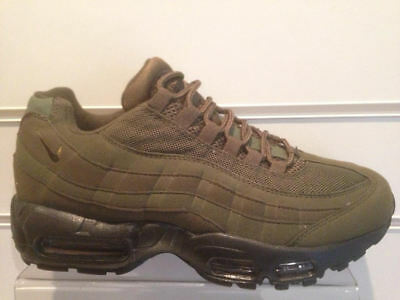 a6f8bf1a3a Mens Nike Air Max 95 Trainers Khaki Green Black All Uk Adult Sizes - New &