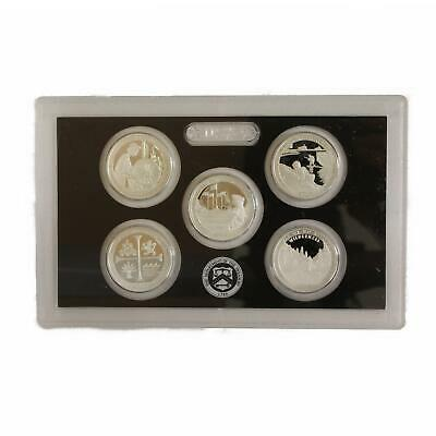 2019 S Parks Quarter ATB 99.9% Silver Proof Set No Box or COA 5 Coins PRESALE