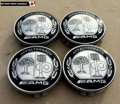 4 PCS 75mm / 3 INCH  MERCEDES BENZ AFFALTERBACH AMG WHEEL BADGE CENTER CAPS