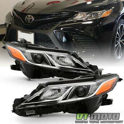 For 2018-2019 Toyota Camry L LE SE LED Projector Headlights Headlamps Left+Right