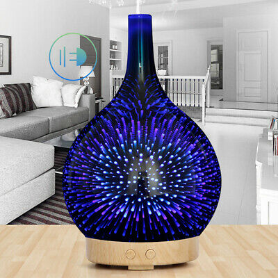 Aroma Aromatherapy Diffuser LED Light Oil Firework Air Humidifier Purifier New