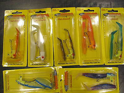 """HYDRA Northern Pro Lures QTY 7 """"Best Lure in the Universe"""" Pike Model15 B"""