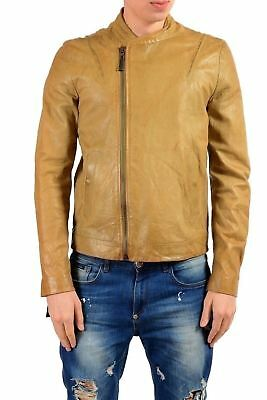 1dbecee50 JUST CAVALLI MEN'S 100% Leather Shearling Black Full Zip Jacket US S ...