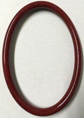 Vintage Decorative 6x4 Oval Antique Italian Wood Picture Frame Gloss Wine X91