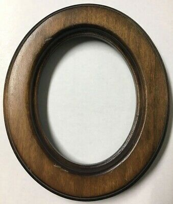 Vintage Decorative 6.5 Oval Antique Wood Picture Frame Stunning Fits 5x4 - X86A