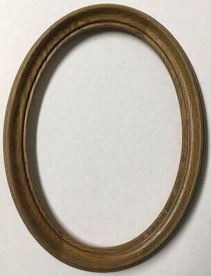 Vintage Decorative 7x5 Oval Antique Oak Picture Frame Made in Germany NICE X73A