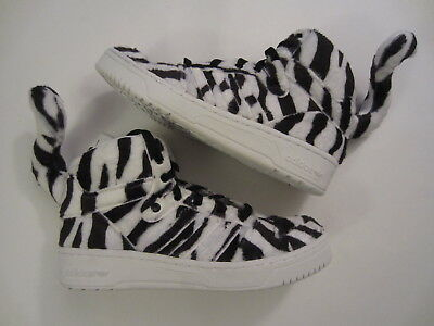 on sale 67cb2 14582 NEW Adidas Originals Jeremy Scott White Tiger B26037 leopard wings mens  shoe 8