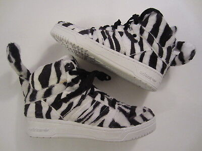 best service a07cc 97dca NEW Adidas Originals Jeremy Scott White Tiger B26037 leopard wings mens  shoe 6.5
