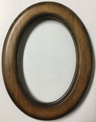 Vintage Decorative 8.75 Oval Antique Wood Picture Frame Stunning Fits 7x5 - X70A