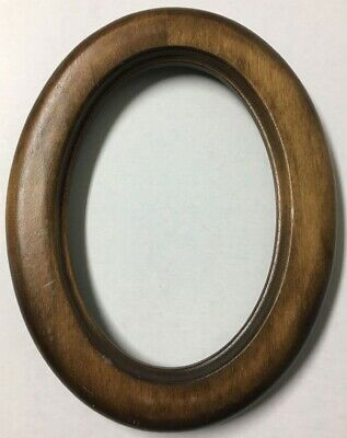 Vintage Decorative 8.75 Oval Antique Wood Picture Frame Stunning Fits 7x5 - X70B