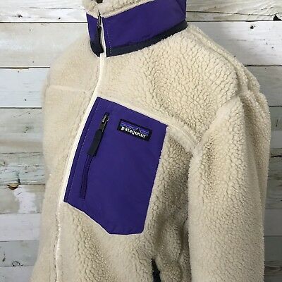 PATAGONIA WOMENS CLASSIC Retro-X Deep Pile Fleece Jacket Natural Color Size  L