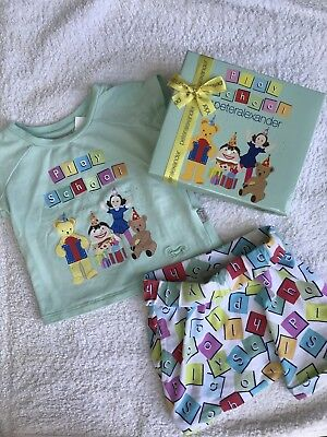 Peter Alexander Play School Baby Unisex Pyjama Set Size 00 3-6 Months In Box