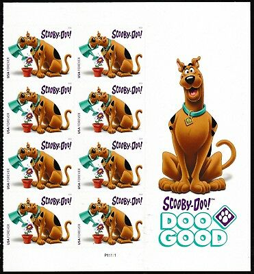 US 5299 Scooby-Doo forever panel block 8 MNH 2018
