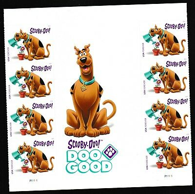 US 5299 Scooby-Doo forever panel gutter block 8 MNH 2018